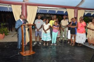 The Honourable Minister of Foreign Affairs Carl Greenidge addresses members of the Guyanese diaspora in Grenada (Source: UN.IT)
