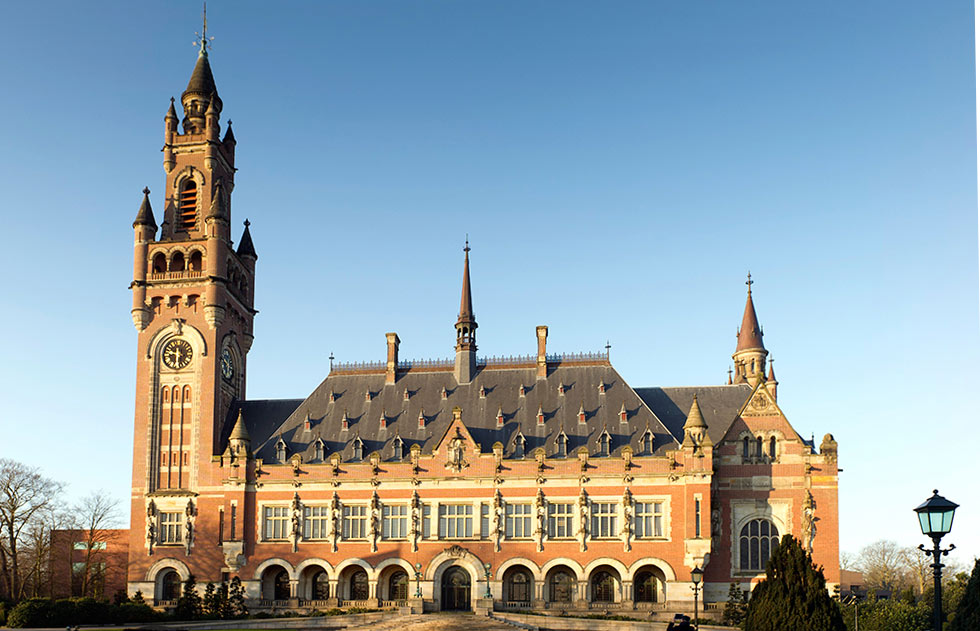 Peace Palace in The Hague, the Seat of the International Court of Justice.